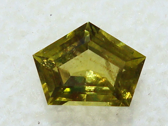 Faceted Admire Meteorite Peridot - .70cts