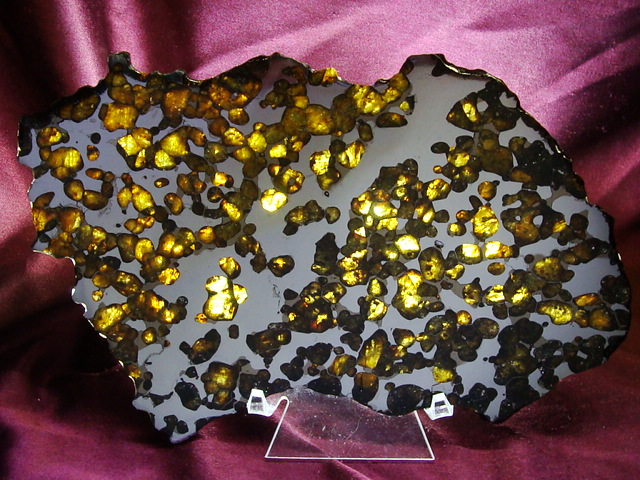 Brenham Pallasite Meteorite Slices For Sale