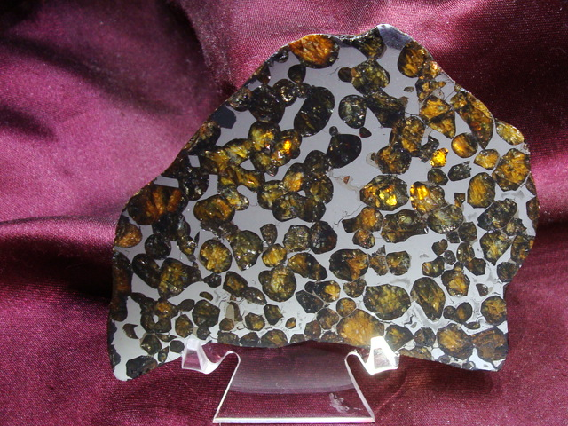 Conception Junction Pallasite Meteorite Slice - 61.5gms