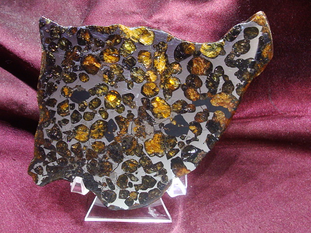 Conception Junction Pallasite Meteorite Slice - 51.5 gms