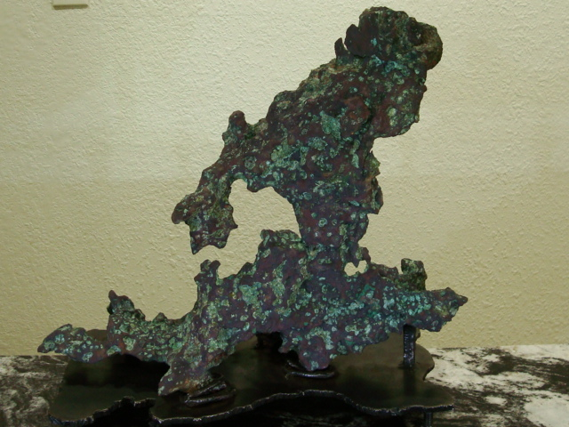 """The Scorpion King"" - Natural Copper Vein Sculpture"
