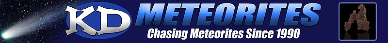 Chasing Meteorites Since 1990! Meteorite Stabilization and Restoration Services available!