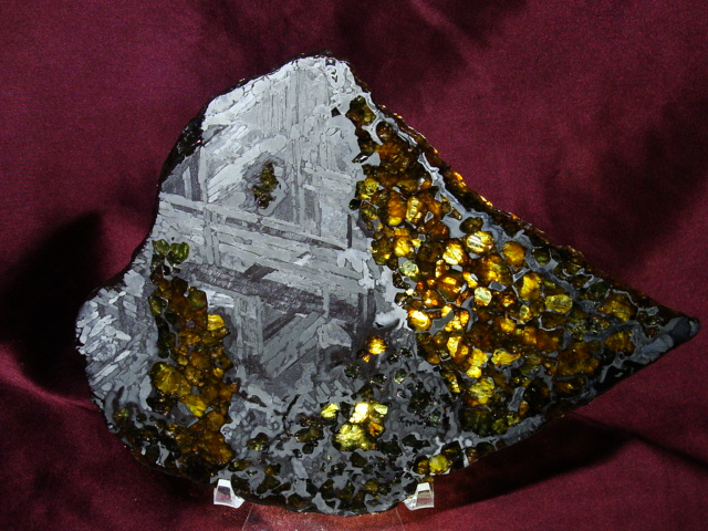 Seymchan Pallasite Meteorite Slices for Sale