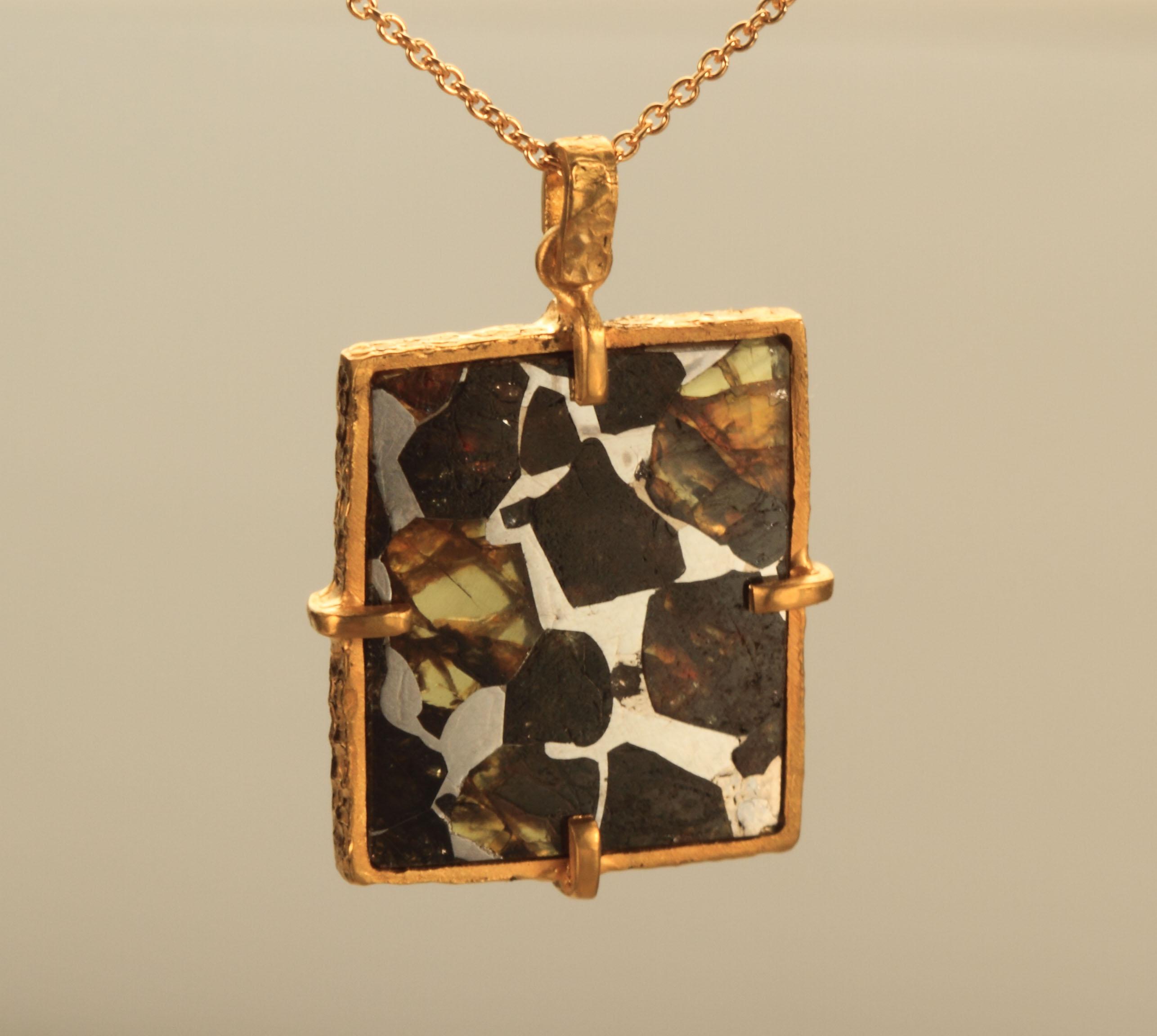 Seymchan pallasite meteorite pendant sedymchan pallasute meteorite pendant not for sale aloadofball Image collections